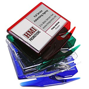 Zippy Magnetic Business Card Letter Opener – Translucent Image 4 of 5