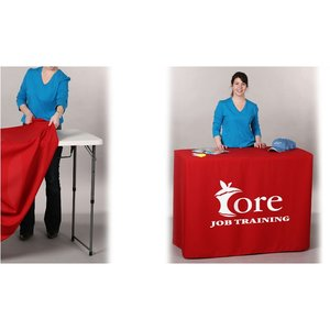 Fitted Demo Table Throw - 4' - Front Panel - Full Color Image 2 of 2