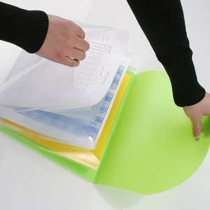 Color Flap Translucent Document Holder - 8