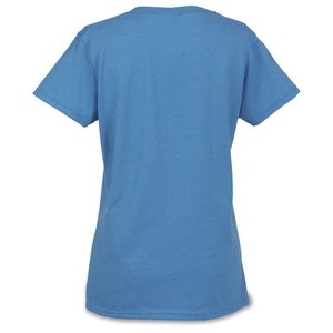 Gildan 5.3 oz. Cotton T-Shirt - Ladies' - Embroidered - Colors Image 1 of 1
