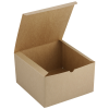 """View Extra Image 1 of 1 of Gift Box - 10"""" x 10"""" x 6"""" - Natural Kraft"""