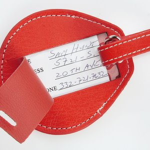 Leather Luggage Tag Image 2 of 2