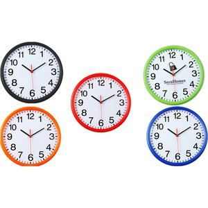 Color Edge Slim Wall Clock - 12