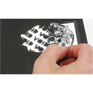 Tamper Evident Chrome Sticker - S
