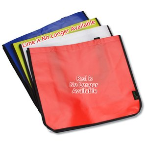 "Laminated Polypropylene Shopper Tote - 14"" x 16"" - Colored"