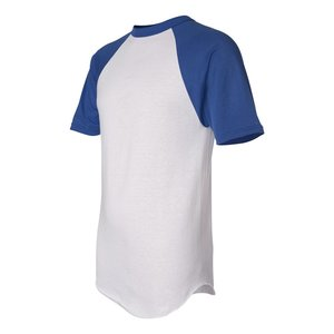 Augusta Sportswear Baseball Jersey - Screen - White Image 1 of 2