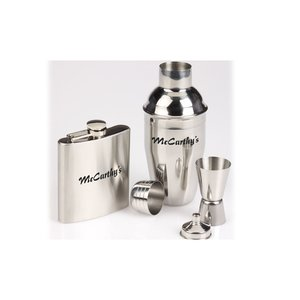 Bar Time Shaker and Flask Gift Set Image 2 of 2