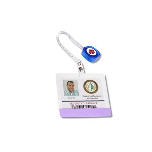 Retractable Tape Measure Badge Holder - Opaque Image 1 of 2