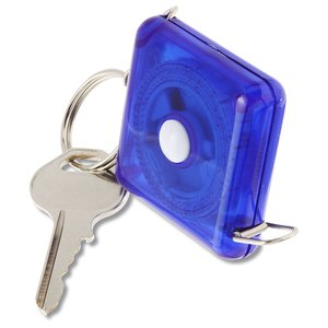 3' Square Tape Measure Keyholder - Translucent Image 3 of 3