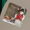 Greeting Card with Magnetic Calendar - Snowman Image 4 of 4