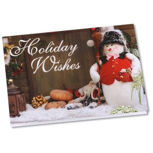 Greeting Card with Magnetic Calendar - Snowman Image 1 of 4