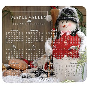 Greeting Card with Magnetic Calendar - Snowman Image 3 of 4