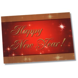 Greeting Card with Magnetic Calendar - Red & Gold New Year Image 1 of 4