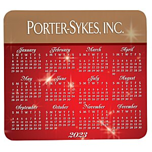 Greeting Card with Magnetic Calendar - Red & Gold New Year Image 3 of 4
