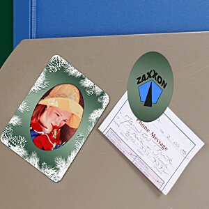 Greeting Card with Magnetic Photo Frame - Holiday Evergreen Image 1 of 1