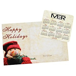 Greeting Card with Magnetic Calendar - Snowman Image 2 of 2