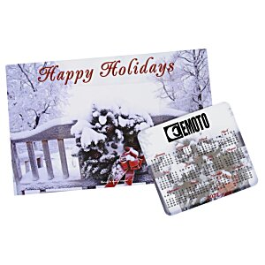 Greeting Card with Magnetic Calendar - Winter Image 2 of 2