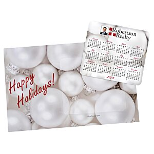 Greeting Card with Magnetic Calendar - Ornaments Image 2 of 2