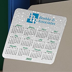 Greeting Card with Magnetic Calendar - Snowfall Image 1 of 2
