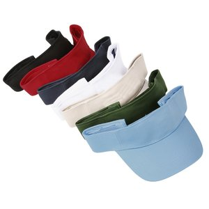 Cotton Twill Lightweight Visor - Embroidered Image 2 of 2