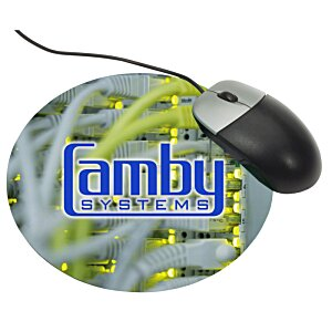 Antimicrobial Recycled Mouse Pad - Circle Image 2 of 2