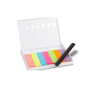 Hard Case Adhesive Notes with Pen