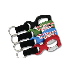 Aluminum Bottle Shaped Carabiner w/Keychain - Closeout