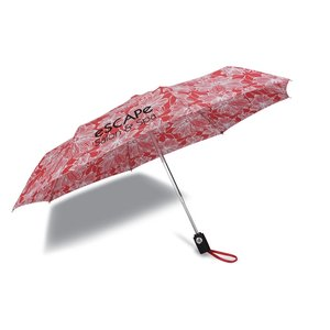 totes Auto Open/Close Umbrella - Floral Image 1 of 3