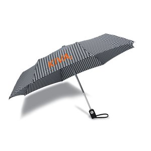 totes Auto Open/Close Umbrella - Houndstooth - 24 hr Image 2 of 3