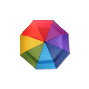 totes Stormbeater Folding Umbrella - Rainbow Image 1 of 3