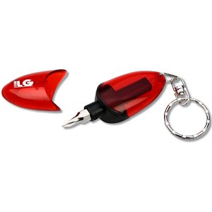 2-Sided Screwdriver Keychain -Closeout Image 3 of 3