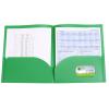 View Extra Image 2 of 2 of Basic 2-Pocket Poly Folder