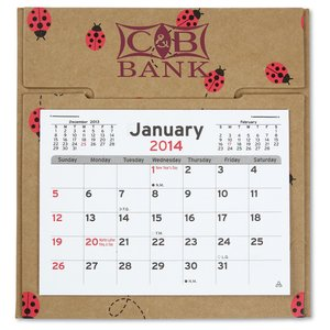 V Natural 3 month Jumbo Pop-up Calendar - Lady Bugs Image 2 of 2
