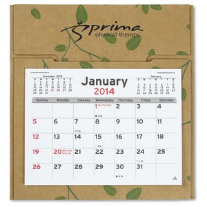 V Natural 3 month Jumbo Pop-up Calendar - Leaves