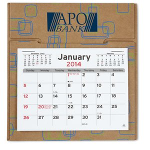 V Natural 3 Month 2014 Pop-up Calendar-Geo Print-Closeout Image 2 of 2