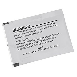 Deodorant Towelette Packet Image 1 of 1