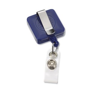 Economy Retractable Badge Holder - Square - Opaque Image 1 of 3