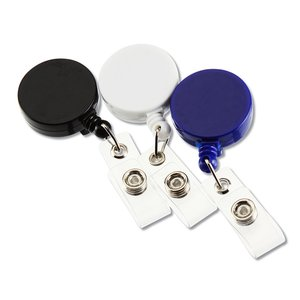 Economy Retractable Badge Holder - Round - Opaque Image 3 of 3