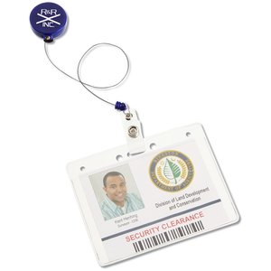Economy Retractable Badge Holder - Round - Opaque - 24 hr Image 2 of 3