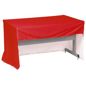 Economy Open-Back Fitted Table Cover - 4' - Full Color Image 1 of 1