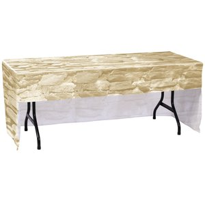 Economy Open-Back Fitted Table Cover - 6' - Full Color Image 1 of 1