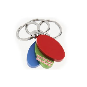 Oval Satin Key Tag - Closeout