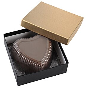 Chocolate Heart Box with Confection - Gold Box Image 7 of 11