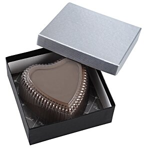 Chocolate Heart Box with Truffles - Silver Box Image 5 of 12