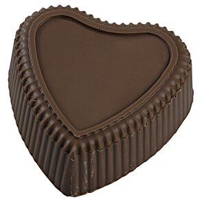 Chocolate Heart Box with Confection - Silver Box Image 3 of 11
