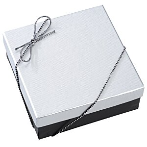 Chocolate Heart Box with Confection - Silver Box Image 7 of 11