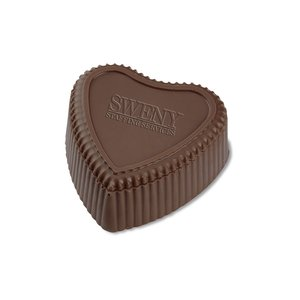 Chocolate Heart Box with Truffles - Silver Box Image 10 of 12