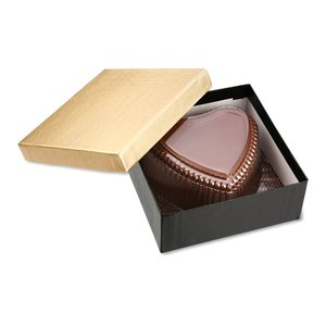 Chocolate Heart Box with Confection - Gold Box Image 11 of 11