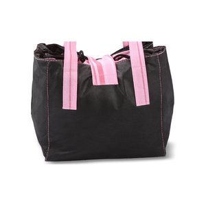 Striped Drawstring Lunch Bag