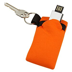 USB Pouch - Single with Key Ring Image 3 of 3